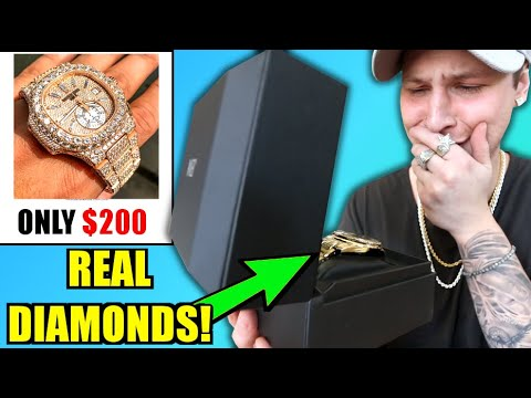 This REAL DIAMOND WATCH Is ONLY $200!!.. I BOUGHT & DIAMOND TESTED IT!