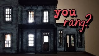 Miniature Siding Tutorial for a Spooky Dollhouse: The Addams Family Mansion Halloween Special