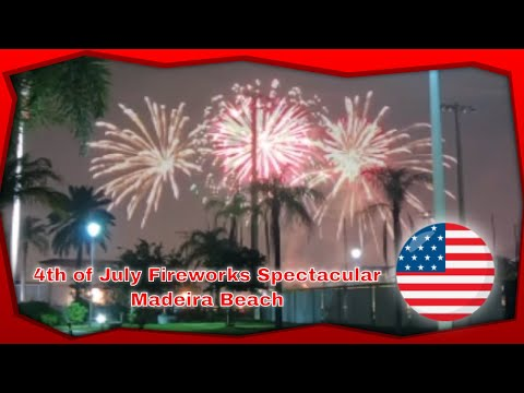 4th of July 2019 Fireworks Spectacular – Madeira Beach – Florida – Recorded With GoPro Hero 7 Black