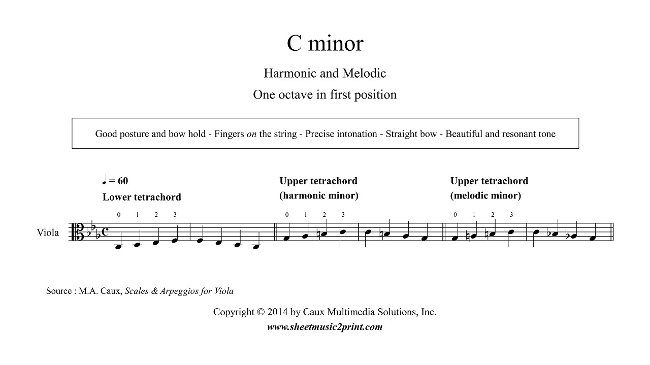 The C Minor Scale  Natural Harmonic and melodic