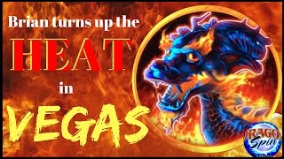 Brian turns up the HEAT in Vegas with DRAGON SPIN ✦ SPINNING SATURDAYS ✦ Slot Machine Pokies