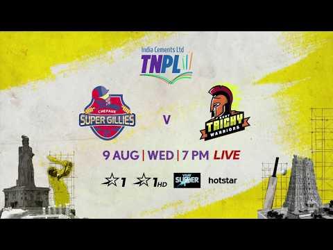 TNPL 2.0: Chepauk Super Gillies vs Ruby Trichy Warriors