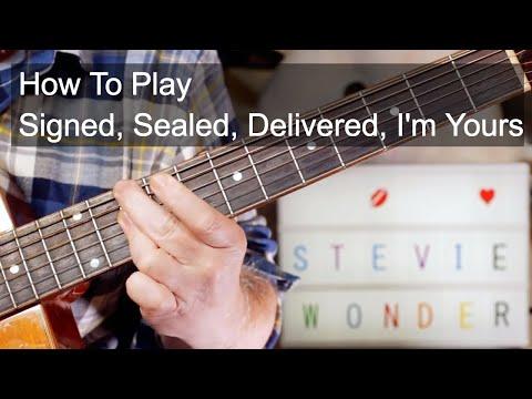 'Signed, Sealed, Delivered I'm Yours' Stevie Wonder Acoustic Guitar Lesson