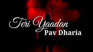 Teri Yaadan | Lyrics video song | Pav Dharia