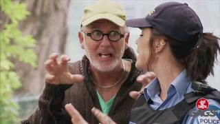Just for Laughs Gags: Puppy Attack - Injured Ice Cream Man Prank! Good !!!