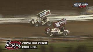 Highlights: World of Outlaws Sprint Cars Williams Grove Speedway October 4th, 2015