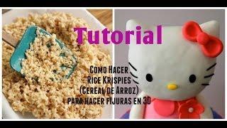 Como hacer Rice Krispies/Cereal de Arroz para fijuras en 3D