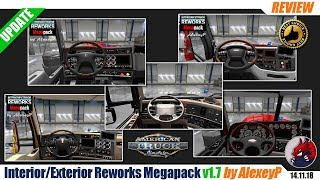 "[""ATS"", ""American Truck Simulator"", ""mods"", ""modifications"", ""tuning mod"", ""Interior Exterior Reworks Megapack v1.7"", ""by AlexeyP""]"