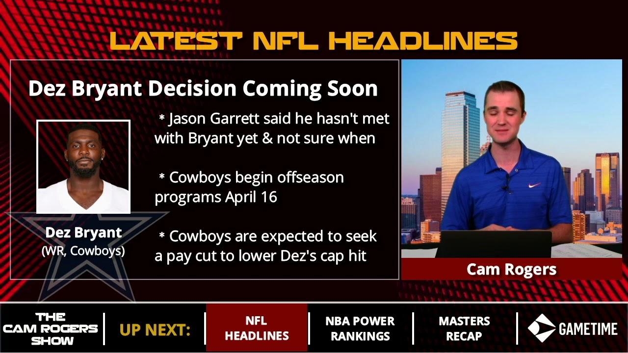 Dallas Cowboys News Hc Jason Garrett Says Meeting With Dez Bryant Hasn T Happened