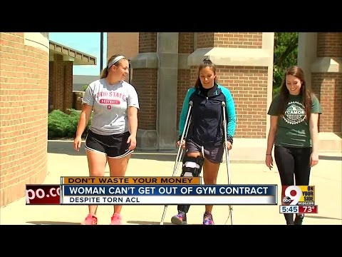 Torn ACL can't get woman out of gym contract