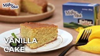 Best Fluffy Vanilla Cake Recipe| Birthday Cake Recipe| English Recipe| MilkyMist