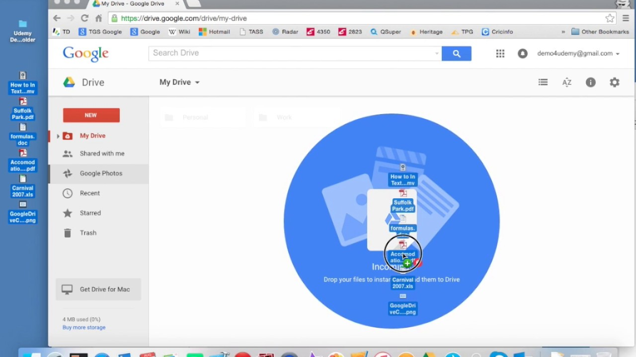 Google Drive - Drag & Drop Files
