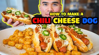 How to make a CHILI CHEESE DOG