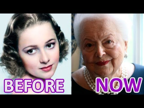 WOMAN and TIME: Olivia de Havilland. Before and after Melanie