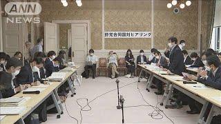 """野党「無駄許さない」""""不透明な委託費""""など追及へ(20/06/08)"""