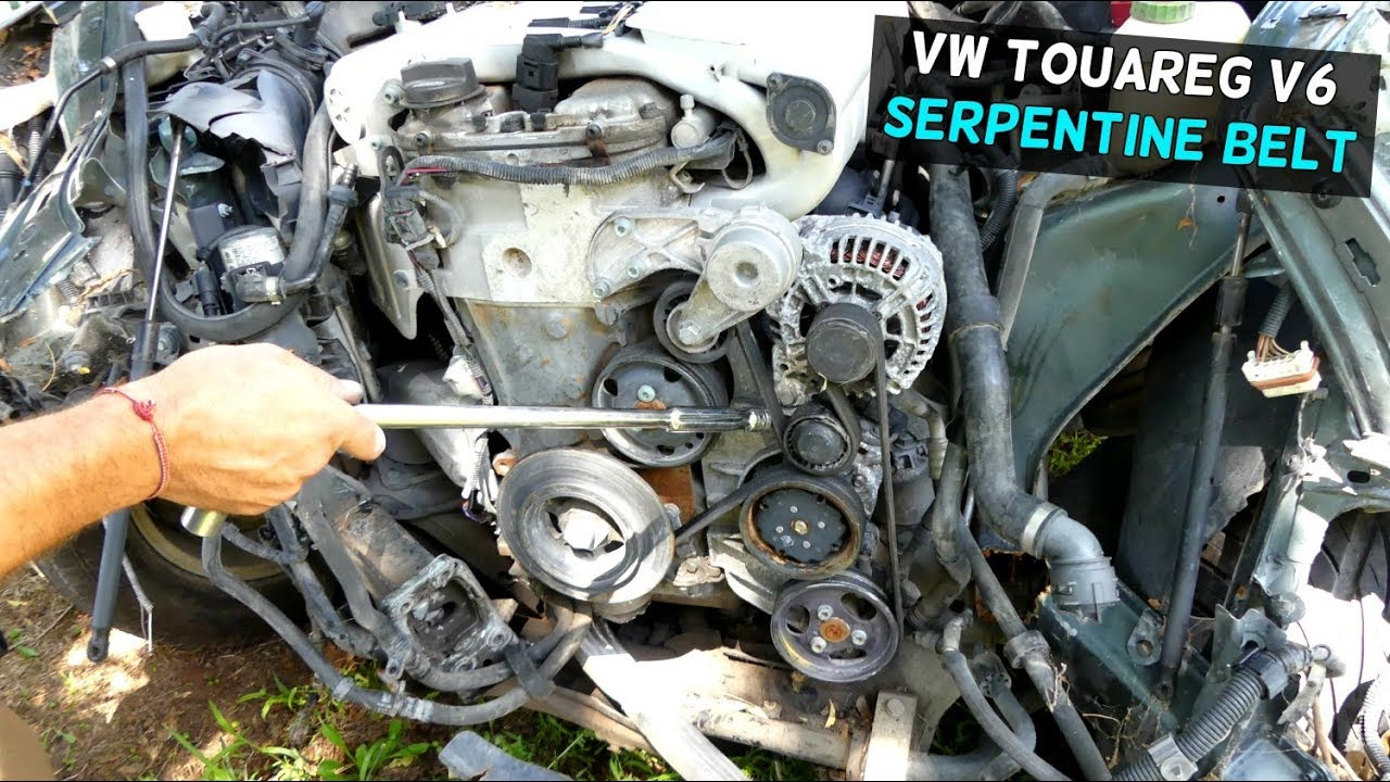 VW TOUAREG V6 SERPENTINE BELT REPLACEMENT REMOVAL DIAGRAM  YouTube