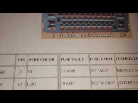 2013-16 Honda Accord stereo wire colors - YouTube