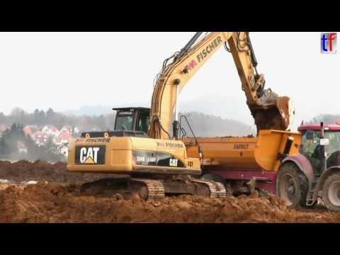 MASSIVE EARTHMOVING / Cat 336D LN, Cat 324D LN, Fendt & Claas & John Deere Tractors, 2013.