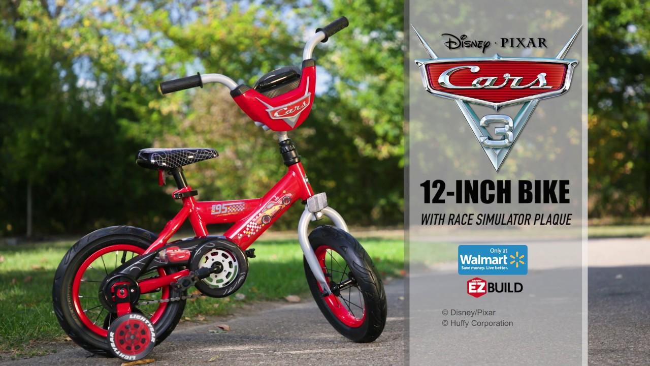 Huffy 16/' Disney Pixar Cars Lightning McQueen EZ Build Kids Bike With Sounds,
