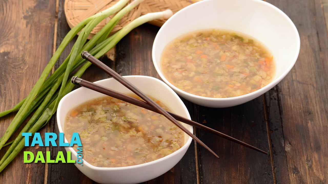 Chinese veg soup veg chinese clear soup by tarla dalal youtube forumfinder Choice Image