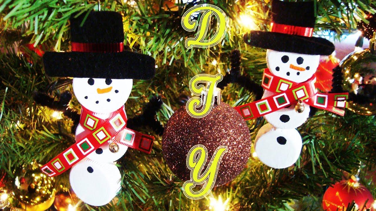 Mu eco de nieve snowman adornos navide os christmas for Adornos navidenos manualidades