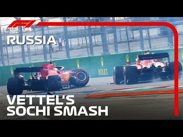 Sebastian Vettel's Qualifying Crash   2020 Russian Grand Prix