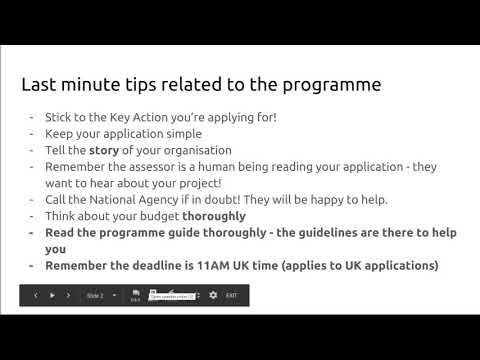 Erasmus+ Youth webinar: Last minute tips on application writing