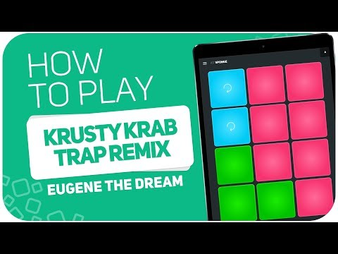 How to play: KRUSTY KRAB TRAP REMIX (Eugene The Dream) - SUPER PADS - Kit Sponge