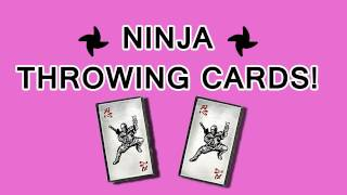 Youtube ninja throwing cards reheart Image collections