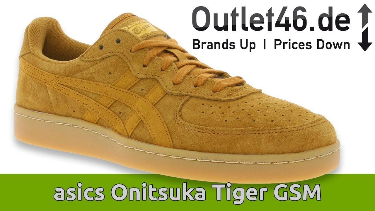 Guiño Hacia atrás grado  Asics Onitsuka Tiger GSM I Retro auf dem Tennisplatz ? I Review l On Feet l  Overview l Outlet46 - YouTube