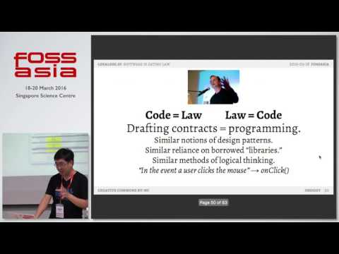 Legalese.io: smart contracts, dumb lawyers, and you - FOSSASIA 2016