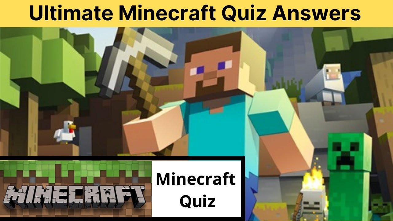 Ultimate Minecraft Quiz Answers 11%  Quiz Diva Minecraft Quiz Answers   Quiz Point  Quiz Diva