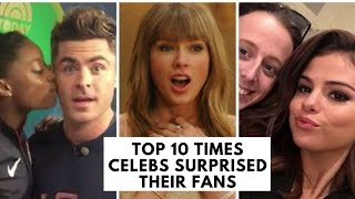 Top 10 Times Celebs Surprised Their Fans | Hollywire