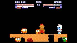 Famicom Fighters - Dig Dug