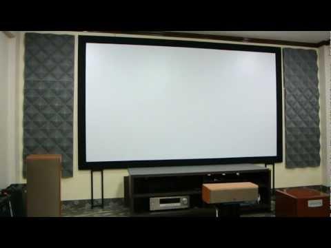 diy-ทำจอโปรเจคเตอรราคาประหยัด-diy-fix-projector-screen-with-laminate-sheet---material-test