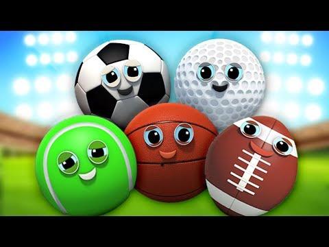 la canzone famiglia ditto | bambini canzoni | Sports Ball Finger Family Song