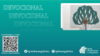 Devocional - IPB Mangabeira - 02/06/2020