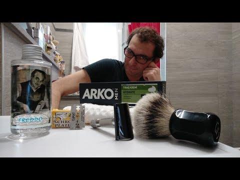 IKon B1 Slant - Bic Chrome - Arko Hydrate - Shavemac 173 Silvertip - Extrò Freddo AS
