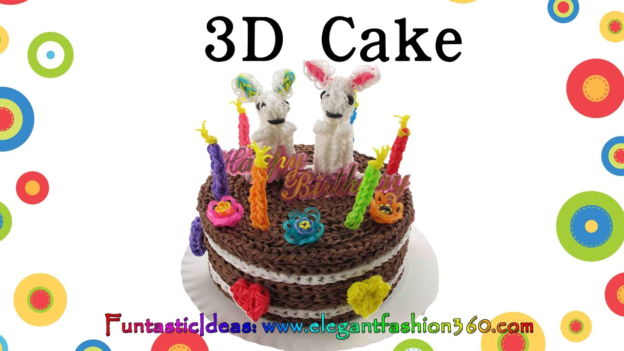 Rainbow loom 3d cake 6 live size how to loom bands tutorial rainbow loom 3d cake 6 live size how to loom bands tutorial youtube publicscrutiny