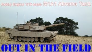 US ABRAMS M1A2 rc desert tank out in the FIELD 1/16 scale 00406022