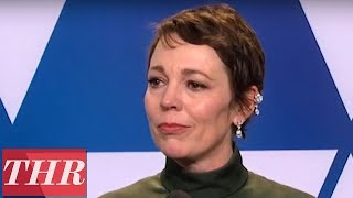 Oscar Winner Olivia Colman Full Press Room Speech  THR