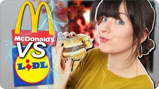 MC DONALDS vs LIDL - Was ist besser? l FAKE VS ORIGINAL