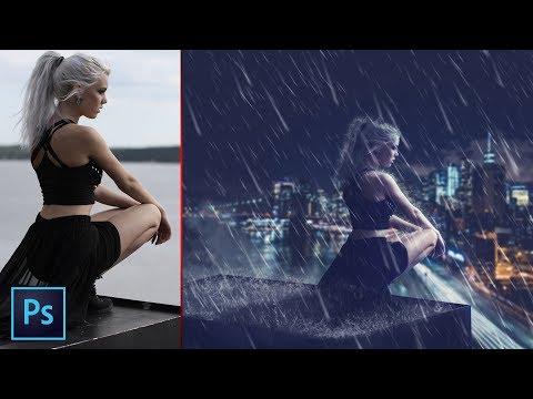 Rain Effect | Photoshop Manipulation | Photoshop Tutorial