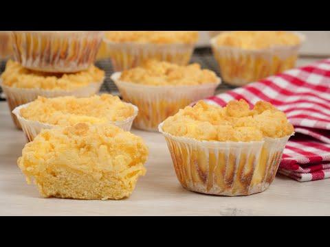 Cheesecake Streusel Muffins   Mini Käsekuchen mit Streuseln   Käsekuchenmuffins