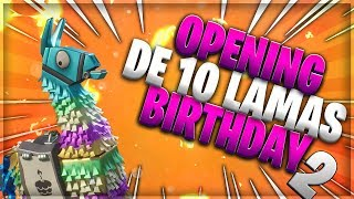 FORTNITE SAUVER THE WORLD OPENING X10 ANNIV LAMAS