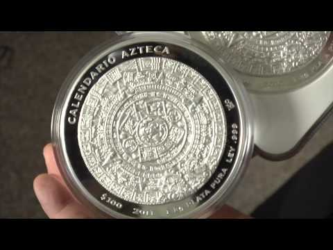 APMEX Silver Coins: 1 Kilo (32.15 oz) Silver Aztec Calendar