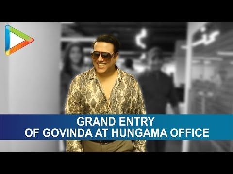 GOVINDA makes GRAND ENTRY at Hungama Office | Pahlaj Nihalani | Mishika Chourasia