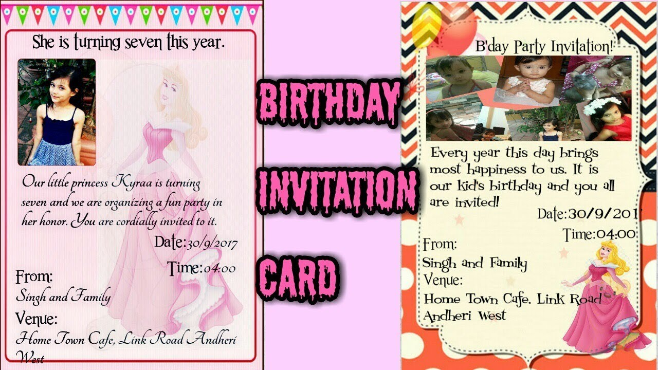 How To Make Baby S 1st Birthday Invitation Card