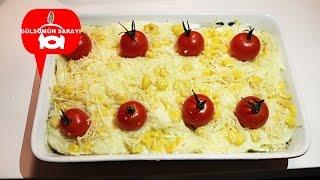 patates püreli ispanakli graten / ispanak / besemal soslu patates / kartoffel / gülsümün sarayi