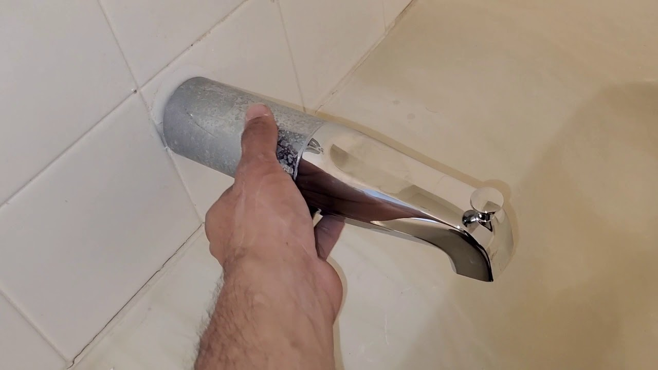 replacing tub spout extender extension easy